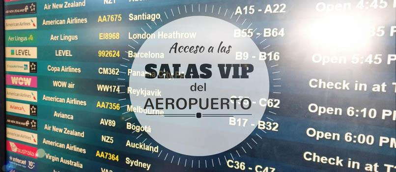 acceso a salas vip de los aeropuertos gratis