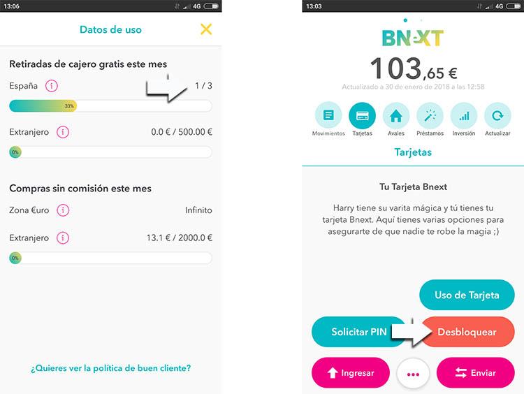 bnext como funciona la tarjeta