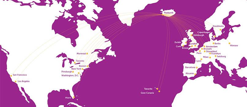 mapa de rutas wowair