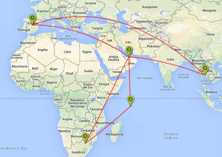 mapa de vuelos con etihad